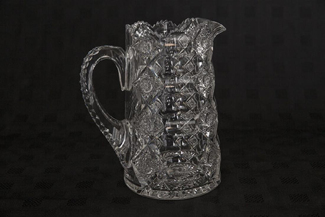 "ABCG 8 1/2"" Signed Hawkes Queens Pattern Pitcher - 2"