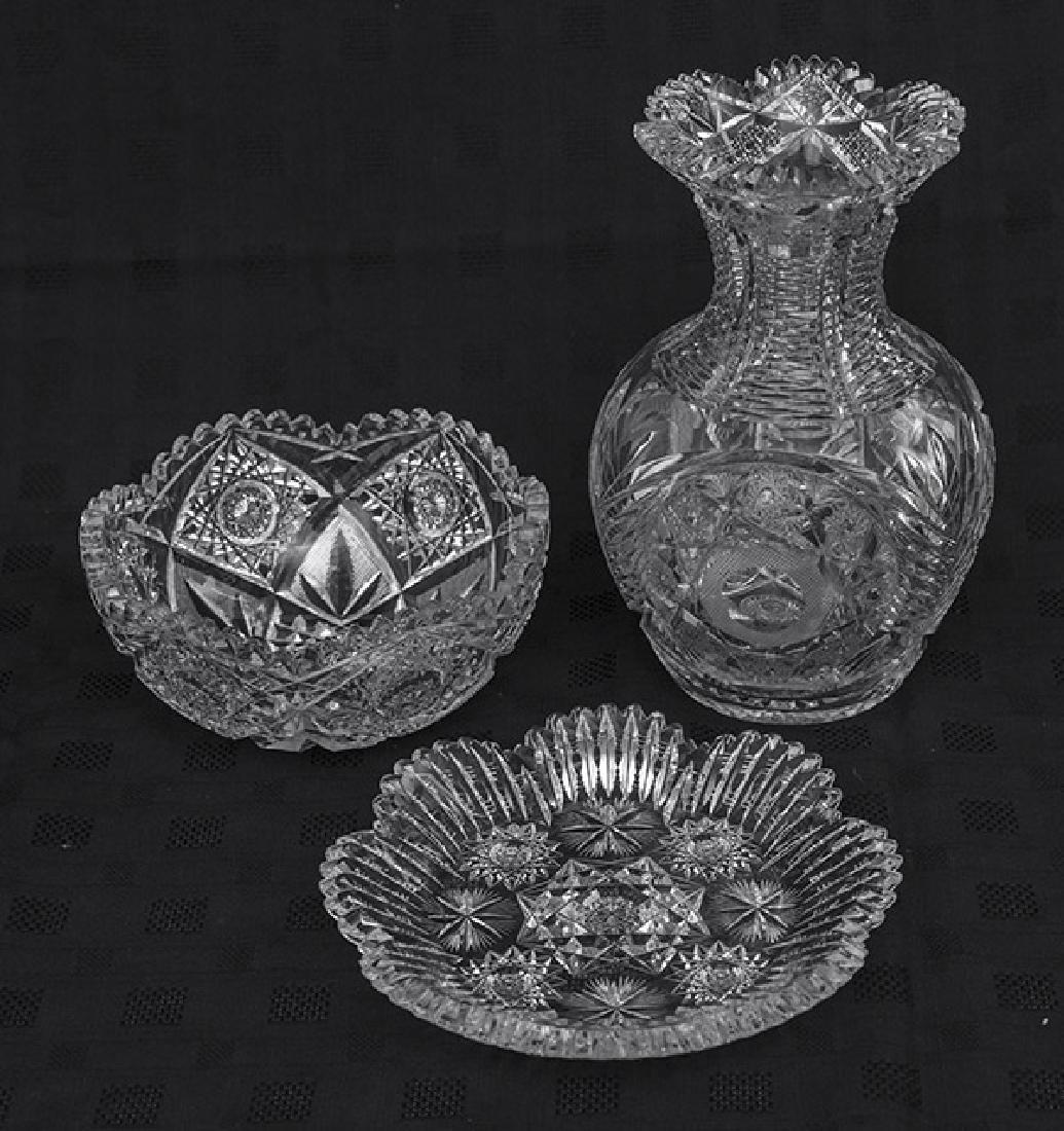 Eggington Pattern American Brilliant Cut Glass Bowl