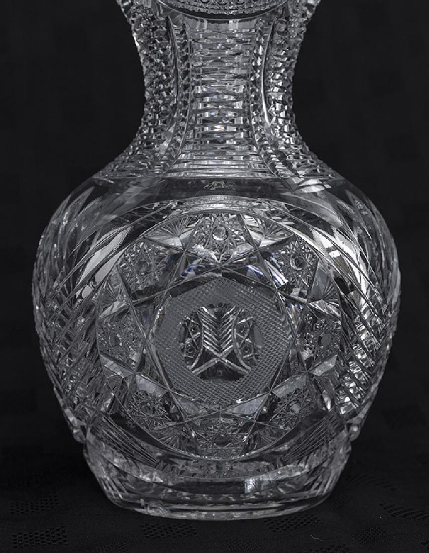 Eggington Pattern American Brilliant Cut Glass Bowl - 4