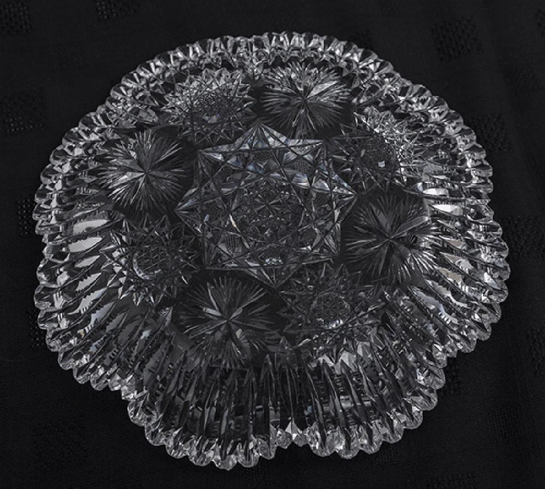 Eggington Pattern American Brilliant Cut Glass Bowl - 5