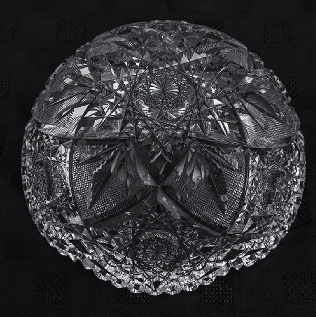 Eggington Pattern American Brilliant Cut Glass Bowl - 6