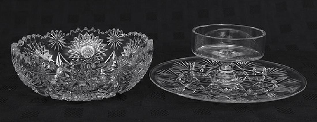 American Brilliant Period Cut Glass Grouping