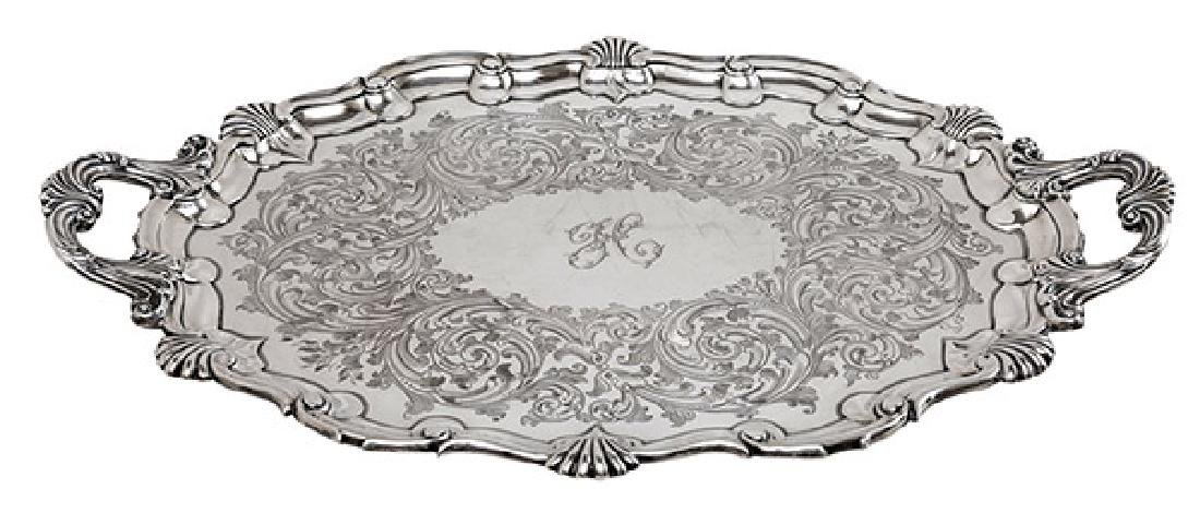 Outstanding Martin Hall & Co. Sterling Serving Tray