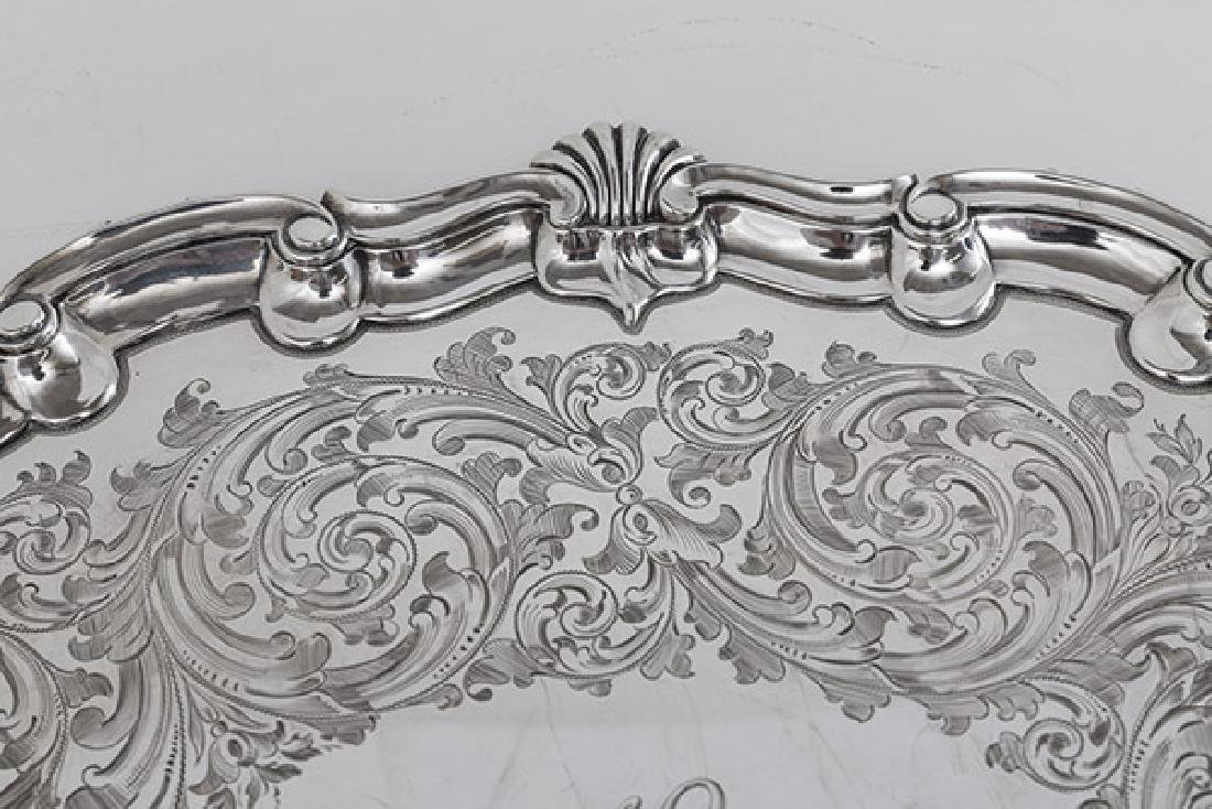 Outstanding Martin Hall & Co. Sterling Serving Tray - 4