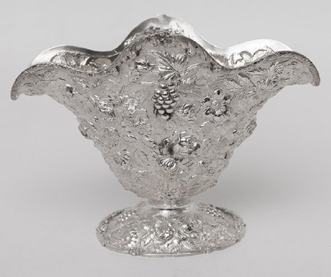 Rare Napoleon Hat Sterling Repousse Fruit Bowl - 2