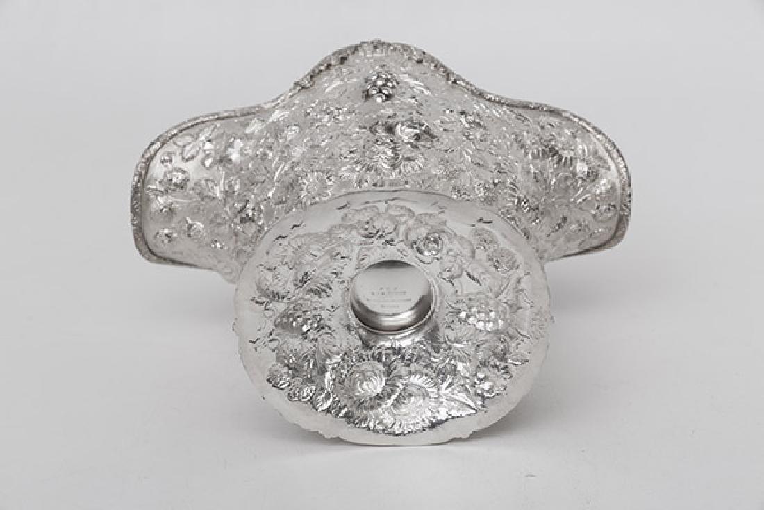 Rare Napoleon Hat Sterling Repousse Fruit Bowl - 4