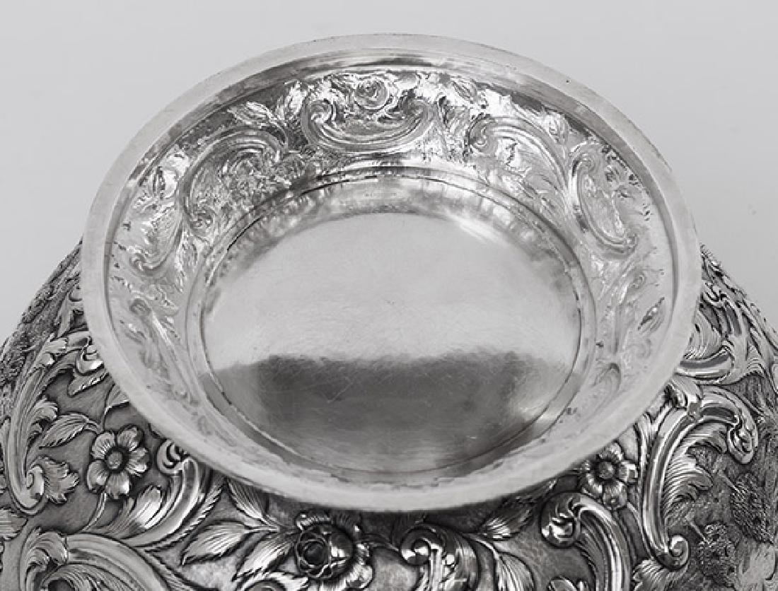 "Loring Andrews ""Castle"" Pattern Sterling Punch Bowl - 7"