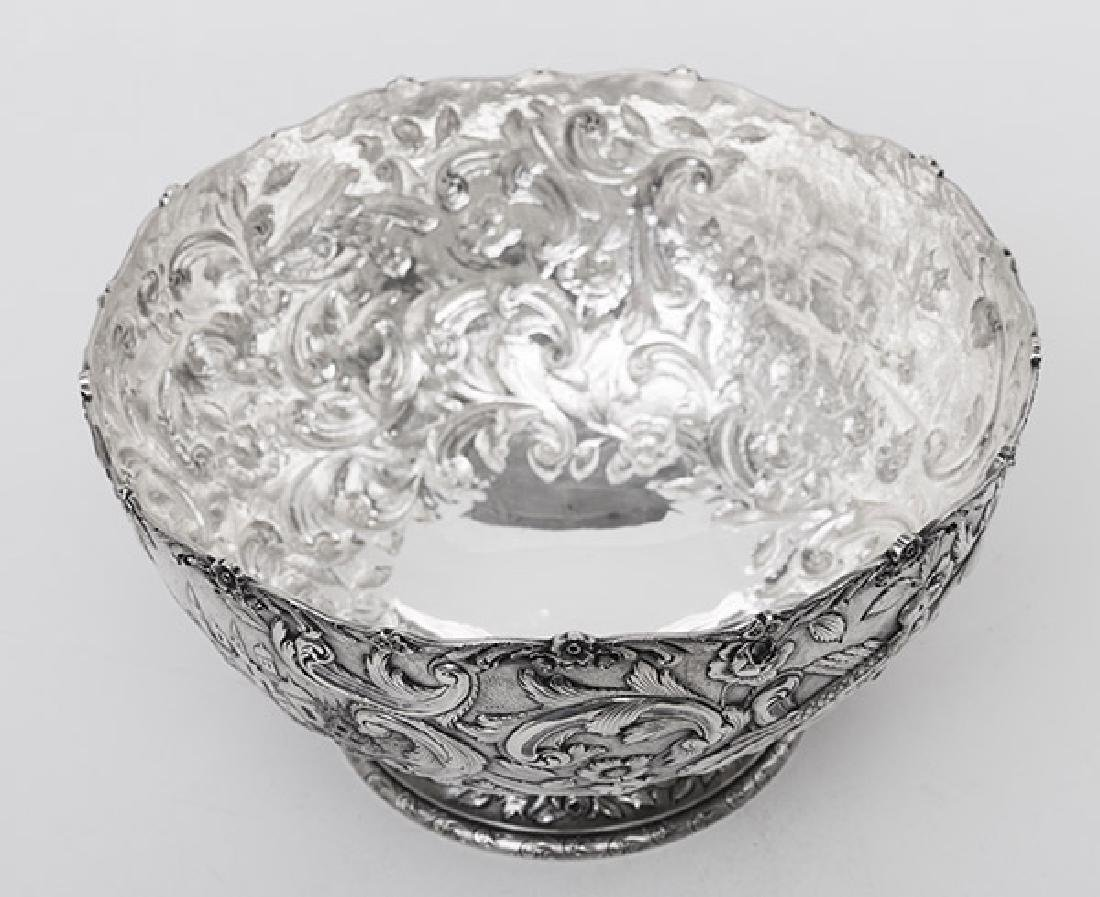 "Loring Andrews ""Castle"" Pattern Sterling Punch Bowl - 8"