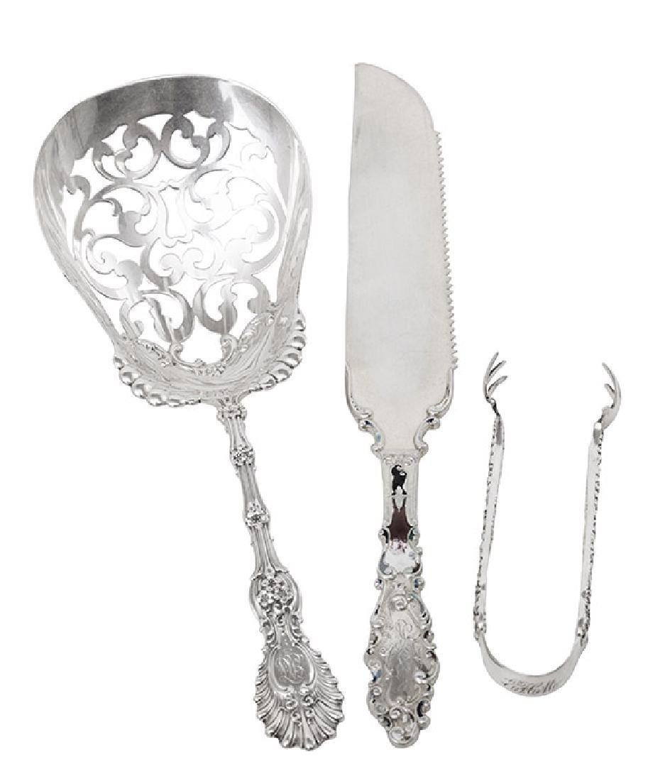 Large Pierced Sterling Silver Serving Spoon Plus
