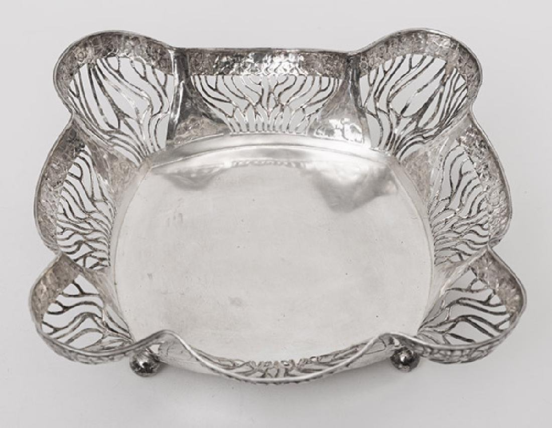 French Silver Reticulated Footed Tray - 5