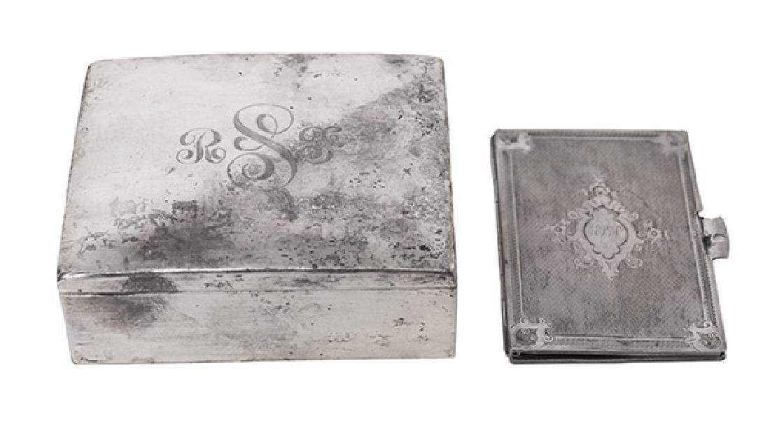 Sterling Silver Box and Card Case