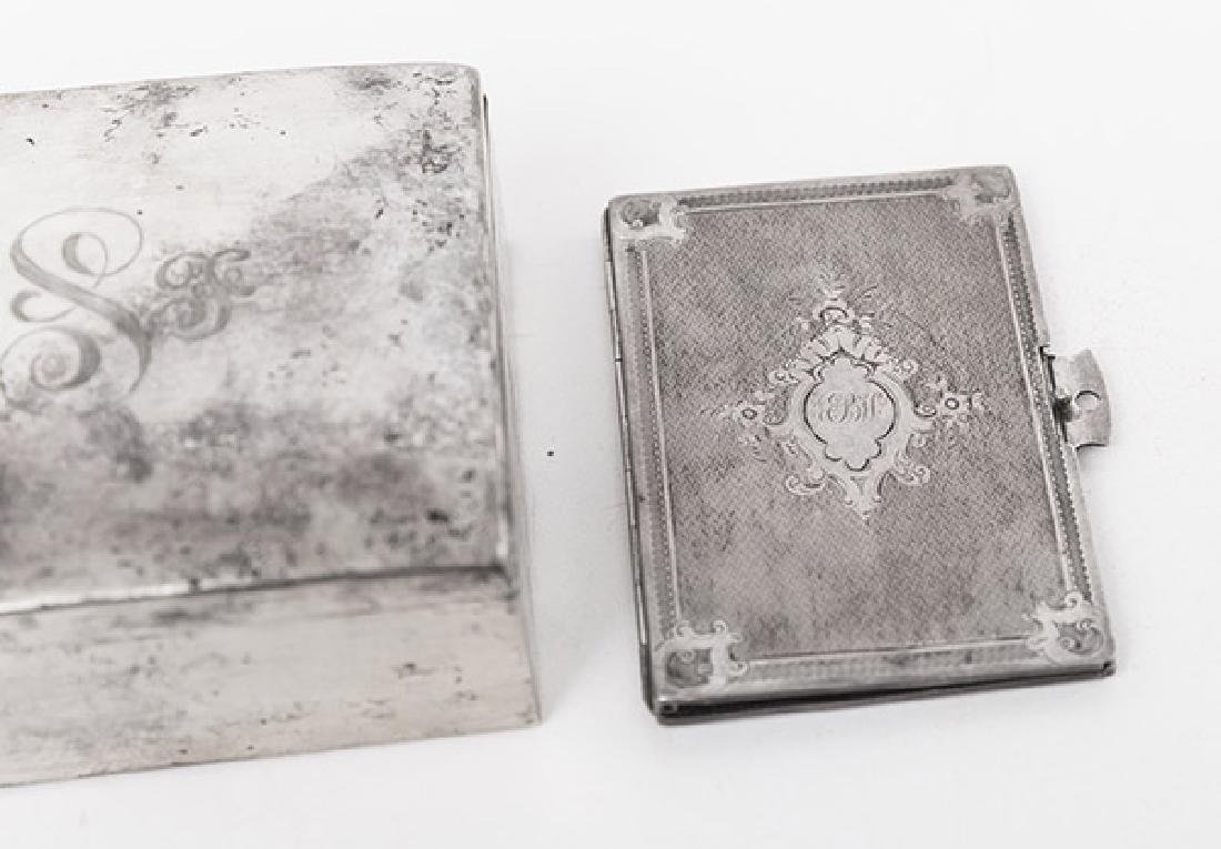 Sterling Silver Box and Card Case - 2