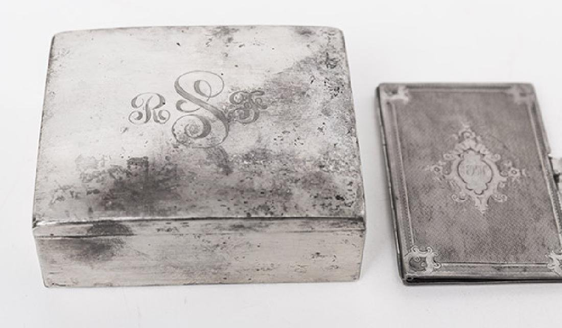 Sterling Silver Box and Card Case - 3