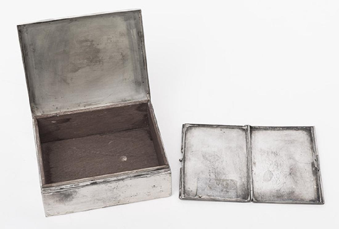 Sterling Silver Box and Card Case - 4