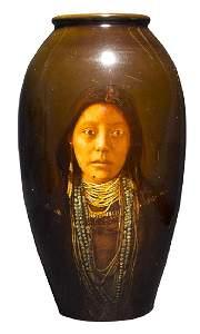 "Matt Daly ""Apache Girl"" Rookwood Pottery Vase"