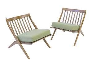 "Folke Ohlsson ""Scissor"" Lounge Chairs"
