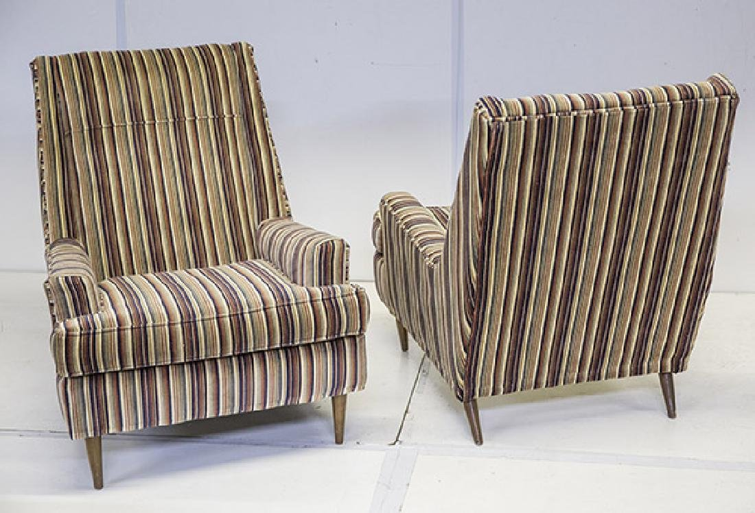 Paul McCobb Style Lounge Chairs & Ottoman - 6