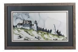 James Mahanes (20th century) Watercolor (Louisville,