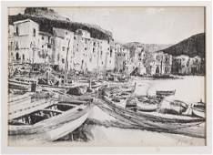 Jack Amoroso (20th Century) Watercolor