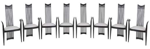 Charles Rennie Mackintosh Style Dining Chairs