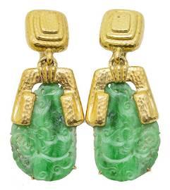 David Webb 18K Yellow Gold Clip Earrings