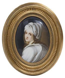 KPM Attribution Plaque of Young Lady