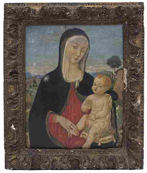 Early 19th Century Oil, Mother and Child