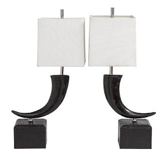 Theodor Alexander Faux Horn Lamps