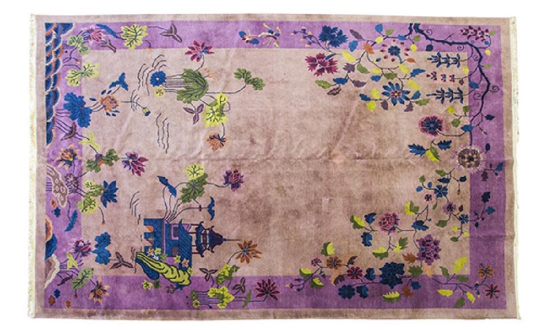 Art Deco Chinese Oriental Rug