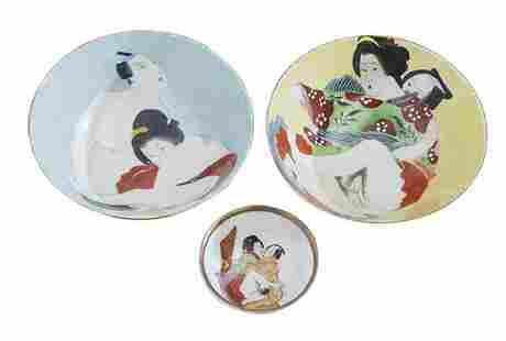Porcelain Celedon Erotica Bowls