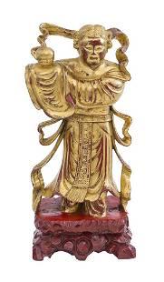 Japanese Gilded Figure