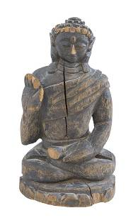 18th Century Burma Seated Wood Buddha