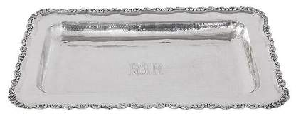 South American Coin Silver Bread Tray