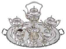 Outstanding Mexican Sterling Silver Coffee and Tea Set