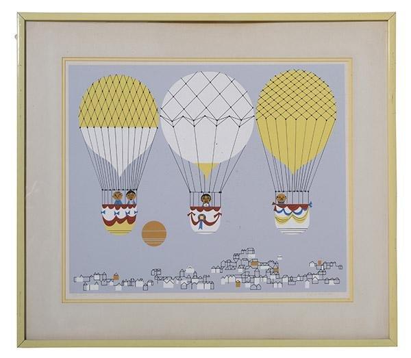 Edie McKee Harper (1922-2010) Lithograph (France)