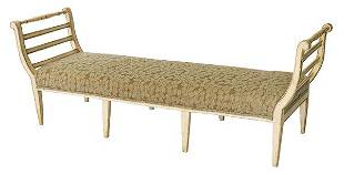 Country French White Washed Bench