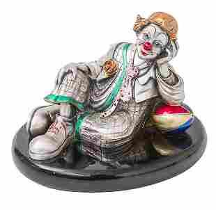 Leonard Argenti Clown Sculpture