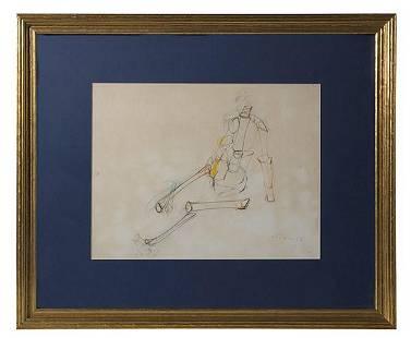 Josef Mikl (1929-2008) Pencil Drawing (Austria)