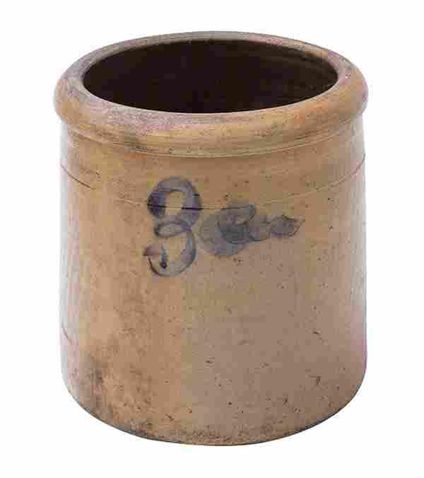 Three Gallon Decorated Stoneware Crock