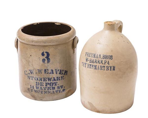 C.W. Weaver & Freeman Brothers Stoneware