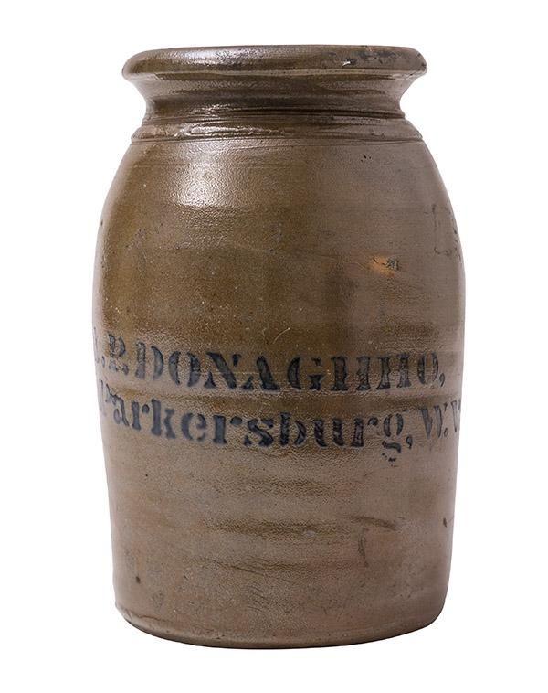 A.P. Donaghho, Parkersburg, W. Va. Decorated Crock