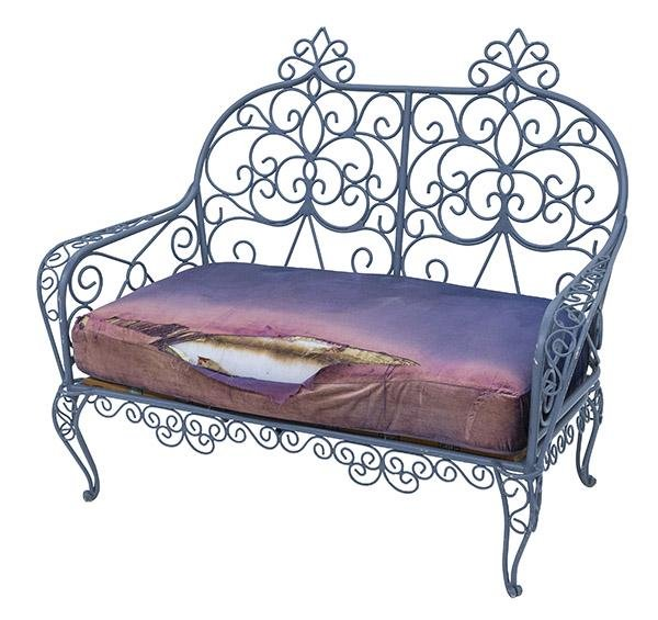 French Iron Settee