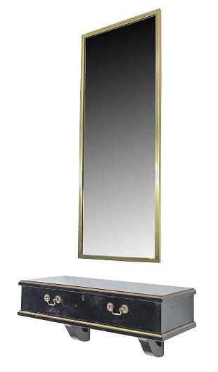 Vintage Alfrid Assid Console Table & Mirror
