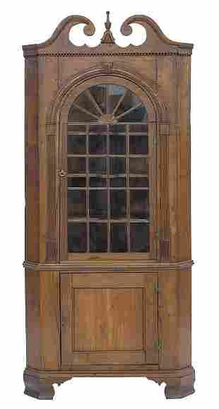 19th Century Corner Cupboard