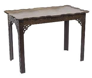 18th Century Chinese Chippendale Tea Table