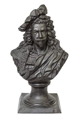 After Albert Ernest Carrier Belleuse Bronze Bust of