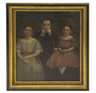 19th Century Portrait of Three Children