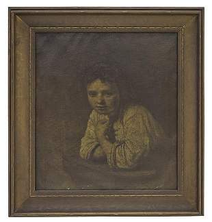 19th Century Portrait of Young Lady