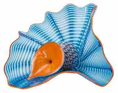 Dale Chihuly Maya Blue Persian Sculpture