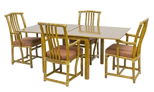 McGuire Dining Table & Chairs